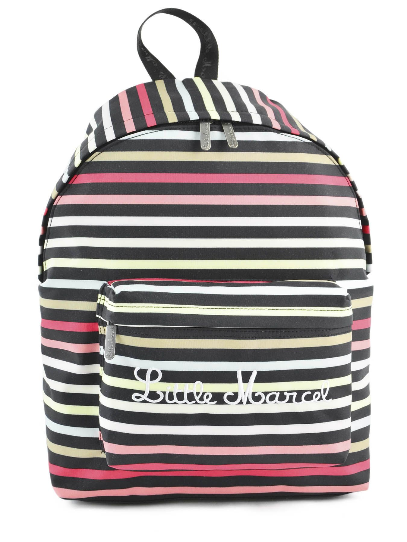 sac dos little marcel raye rose 279 school niby. Black Bedroom Furniture Sets. Home Design Ideas