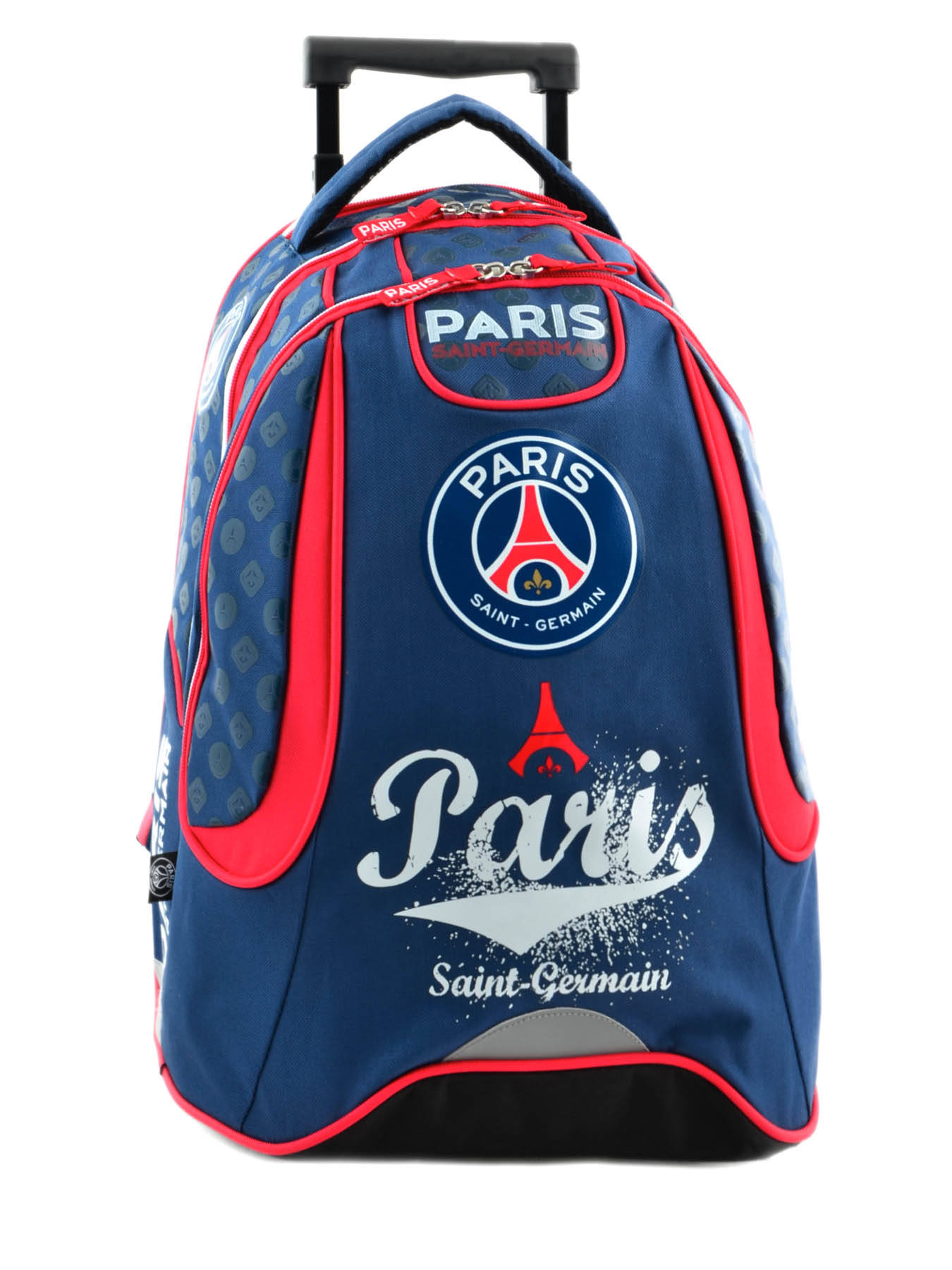 sac a dos roulettes paris st germain paris multicolor i en vente au meilleur prix. Black Bedroom Furniture Sets. Home Design Ideas