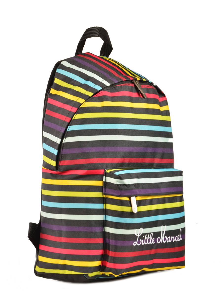 sac dos little marcel scolaire raye bleu 171 en vente au. Black Bedroom Furniture Sets. Home Design Ideas