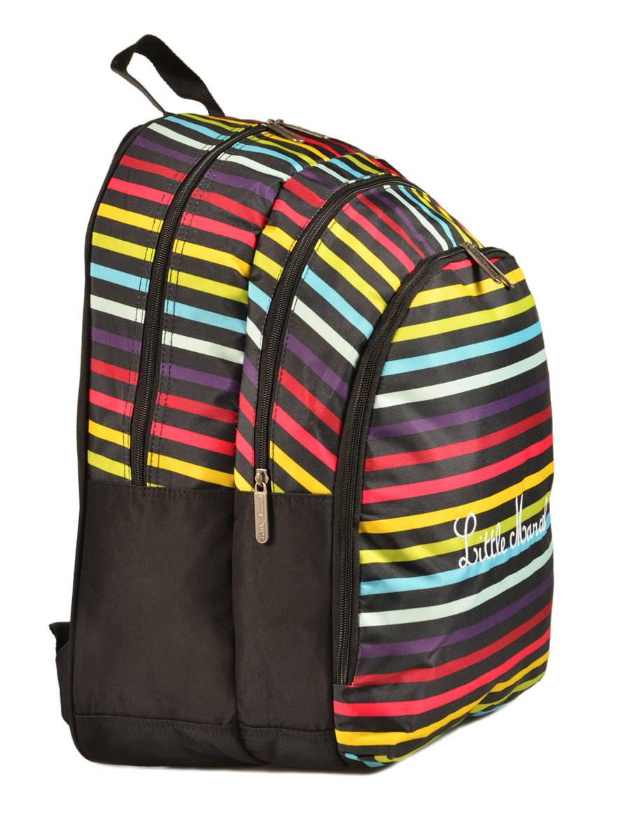 sac dos little marcel scolaire raye bleu 171 en vente au meilleur prix. Black Bedroom Furniture Sets. Home Design Ideas