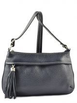 Shoulder Bag  Leather Milano Blue 180