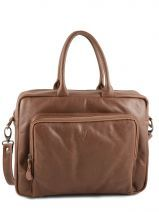 Sac Ordinateur 2 Compartiments Foures Marron a l etat pure P520