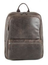 Laptop Backpack Gerard henon Brown outland 8366