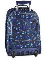 Sac A Dos A Roulettes 2 Compartiments Kipling Bleu back to school 15359