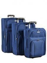 Valise 2 Roues Souple // Lot De 3 Travel Bleu sky2306 23061LOT
