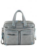 Briefcase Piquadro Gray blue square CA2765B2