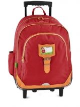 Sac A Dos A Roulettes 3 Compartiments Tann's Rouge kid classic 14TSDL