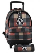 Sac A Dos A Roulettes 2 Compartiments + Trousse Mlb/new-york yankees Marron lumber jack NYJ22045