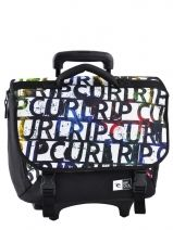 Cartable A Roulettes 2 Compartiments Rip curl Blanc lettering BBPBE4