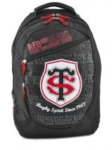 Sac A Dos 2 Compartiments Stade toulousain Noir red and black 143T204B