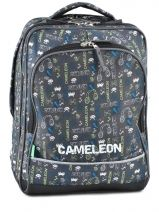 Sac A Dos 2 Compartiments Cameleon Multicolore basic boy 14G-BOR