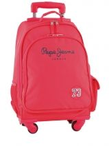 Sac A Dos A Roulettes Pepe jeans Rouge 42400 42428