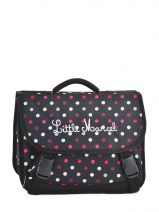Cartable 2 Compartiments Little marcel Noir scolaire RABBIT