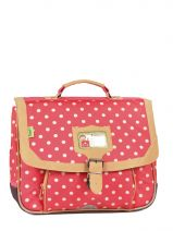 Cartable 1 Compartiment Tann's Red heritage pois 4POCA35