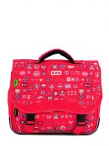 Cartable 1 Compartiment Tann's Pink fun girl 4FGCA35