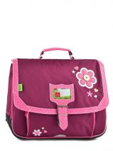 Cartable 2 Compartiments Tann's Violet collector fleur 4FLCA38