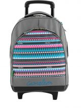 Sac A Dos A Roulettes 2 Compartiments Cameleon Multicolore basic girl 15F-2BOR