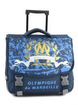 Cartable A Roulettes 2 Compartiments Olympique de marseille Bleu om 153O203R