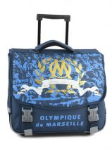 Cartable A Roulettes 2 Compartiments Olympique de marseille Blue om 153O203R