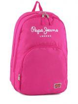 Sac A Dos 2 Compartiments Pepe jeans Rose plain color pink 60124