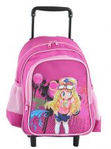 Sac A Dos A Roulettes Miniprix Pink girl 8801-2