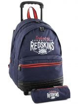Sac A Dos A Roulettes 2 Compart + Trousse Offerte Redskins Bleu industry RET12091