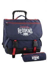 Cartable A Roulettes 3 Compart + Trousse Offerte Redskins Bleu industry RET13006