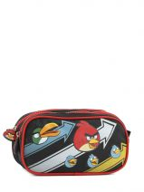 Trousse 2 Compartiments Angry birds Noir cartoon AHB10042