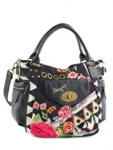 Sac � Main Black And White Desigual Noir black and white 57X50Q9