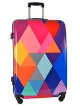 Hardside Luggage Print Shinny Travel Multicolor print shinny PT1536-L
