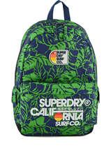 Sac A Dos 1 Compartiment Superdry Bleu alumni U91MK000
