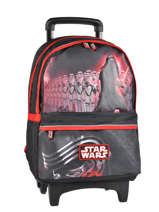 Sac A Dos A Roulettes 2 Compartiments Star wars Black the force awakens STD22045