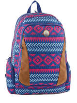 Sac A Dos 3 Compartiments Pc 15 Roxy Multicolor back to school JBP03276