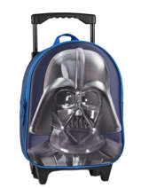 Sac A Dos A Roulettes 1 Compartiment Star wars Bleu 3d 570-7356