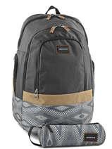 Sac A Dos 2 Comp Pc 15 + Trousse Offerte Quiksilver Gris back to school YBP03270