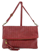 Pochette Sac De Soiree Milano Red velvet stampa VS0033