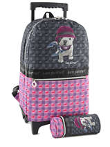 Sac A Dos A Roulettes 2 Compartiments Teo jasmin Gray teo jockey TEQ22080